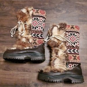 MUK LUKS Tribal Thinsulate Fuzzy Boots